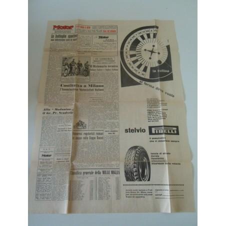 Settimanale Motor n 7 maggio 1955 giornale auto moto