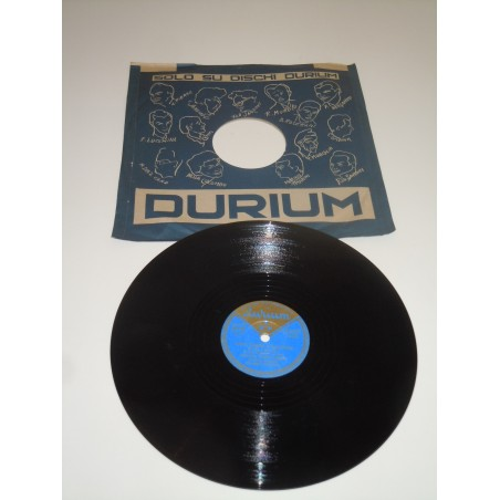 Disco Lp 78' Durium Amo Parigi Mia cara Carolina quartetto Langosz